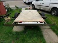 Flat back braked trailer