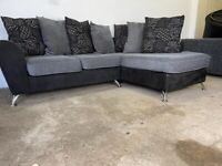 Grey Harvey's corner sofa, couch, suite furniture 🚚WE ARE STILL DELIVERING🚛