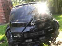 NISSAN MICRA K12 BOOT LID. WITH TINT