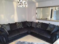 Large corner sofa and swivel chair