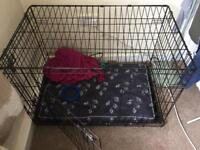 Dog cage and bed