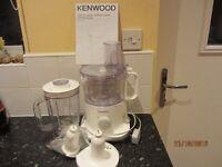 Kenwood mixer food processor used few times
