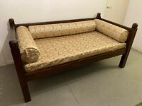 LOMBOK Keraton Carved Day Bed. COST £1.865.00 Solid Teak. Single Bed. Conservatory