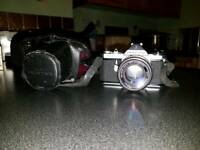 Asahi pentax ME with lense and case