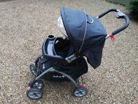"""Pushchair by 'Safety !st"""". in good condition. with drinks holder and rain cover."""