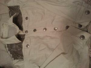SELLING rock and republic studded white denim jacket