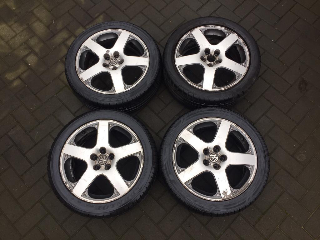 Volkswagen Santa Monica >> Vw Speedline Santa Monica 17 Alloy Wheels With Tyres Mk4 Golf V6 5x100 In Ealing London Gumtree
