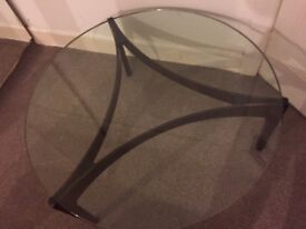 Hille thick glass coffee table with rosewood base in central Bournemouth 1969s antique looks new