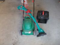 Bosch lawn mower and strimmer