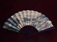 Chinese Bamboo & Painted Silk Fans