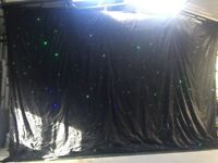 Starcloth backdrop with lights