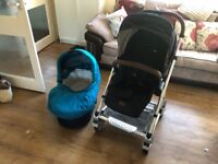 Mamas and papers urbo 2 with baby and child seats plus uv ray cover