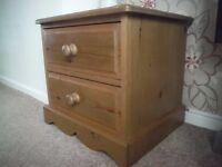 antique pine 2 drawer cupboard