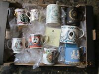 Collection of 9 immaculate 'Royal' mugs, great present!