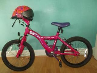 Girls bike with helmet - suit 5-7 years old