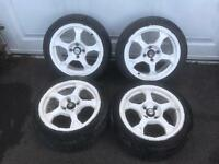 "4x100 15"" Alloy wheels"