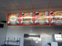 """9 x 24"""" Fast food menu system, Back lit"""