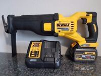 DeWALT DCS388 54v li-ion XR FLEX VOLT BRUSHLESS Reciprocating SAW + 6ah battery...MAKITA BOSCH