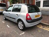 AUTOMATIC LOW MILES 47k RENAULT CLIO 1.4 AUTO 2002-REG LOADS OF PAPER WORK