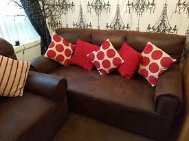 Chocolate brown sofas £100 collect from Allenton