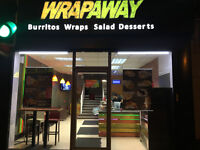 New FastFood Concept Mexican Indian Style Wraps, Burritos, Salads, and Desserts, Great Opportunity