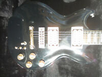 1978 Westbury custom guitar in black. Great condition and located in Ambleside.