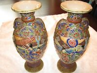 Pair of Oriental enamelled vases for sale excellent condition