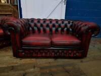 Thomas Lloyd Oxblood 2 Seater Sofa