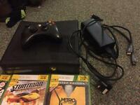 Xbox 360 with controller and 5 games
