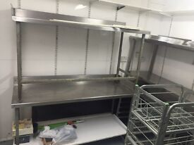 Stainless Steel Food Preparation table for restaurants, pizza shop
