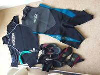 Windsurf/ surfing wetsuit and accessories