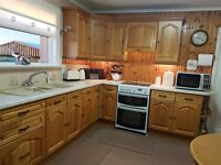 For Sale: Kitchen units, work top, sink, taps and extractor fan. Excellent condition £300