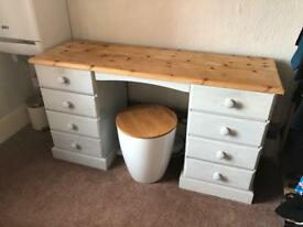 Lovely dressing table with stool
