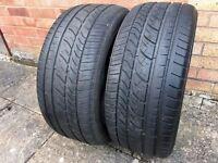 2 x Cooper Zeon CS6 tyres 225 45 17 with rim protection ridge with plenty of tread left