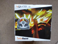 TURBO RACER, BNIB, 4GAMERS STEERING WHEEL AND PEDALS, PS1, PS2, XBOX