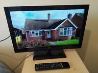 """Great Condition 22"""" LOGIK LED TV/ DVD PLAYER combi full hd ready 1080p, freeview"""