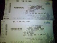 2x justin bieber tickets sun 30/10/16 £160