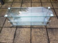 Glass tv stand/ coffee table