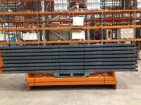 5 bay run of dexion pallet racking , ( storage , industrial shelving )