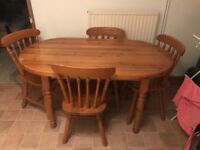 FREE dining room table and 4 chairs.