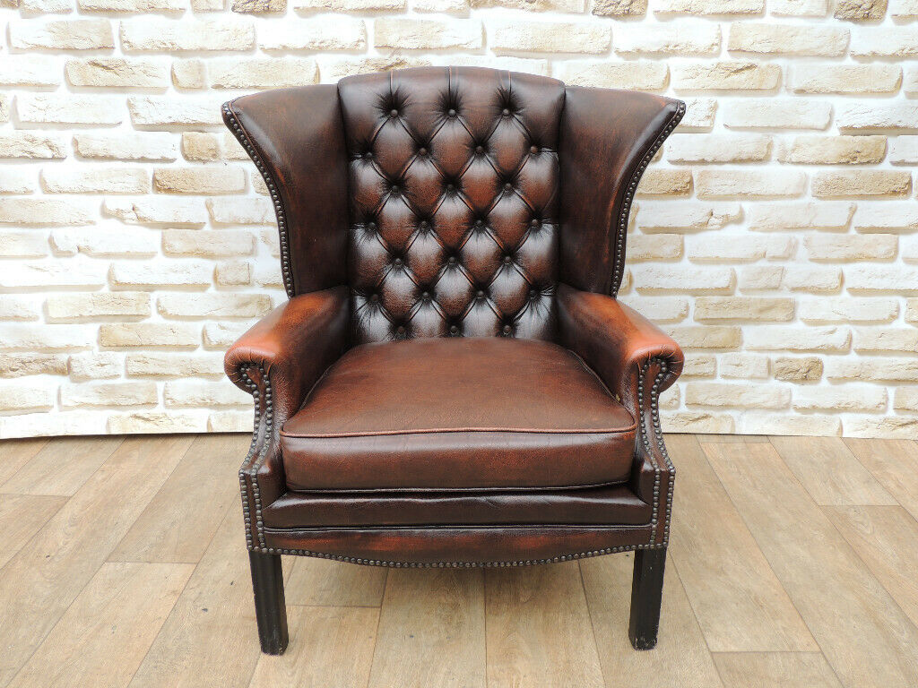 Vintage Chesterfield H Frame Armchair Uk Delivery In Lewisham London Gumtree