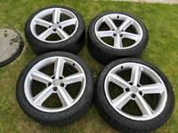 "AUDI S-LINE 18"" ALLOYS WITH GOOD TYRES"
