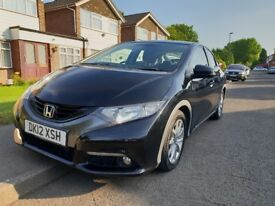 2012 Honda Civic 2.2DTEC diesel manual black FULL service history, LONG MOT, WELL maintained