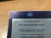 1 x Standing Pete Tong Ticket Saturday 16th December 2017 - The 02 Arena London - Face Value
