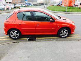 PEUGEOT 206 1.6 HDi Sport 5dr (red) 2005