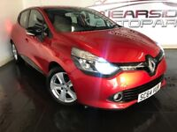 RENAULT CLIO 0.9 TCe Dynamique MediaNav 5dr (start/stop) (red) 2014