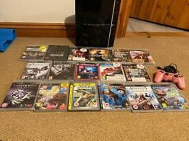 Ps3 console, controller and games