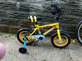 "BOYS APOLLO DIGBY BIKE WITH STABILIZERS 12"" WHEELS"