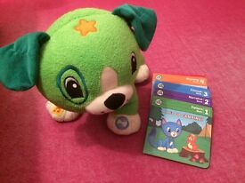 Leap Frog Scout & books & Violet & tag junior book