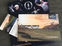 2x adult tickets for The Open Championships at Carnoustie